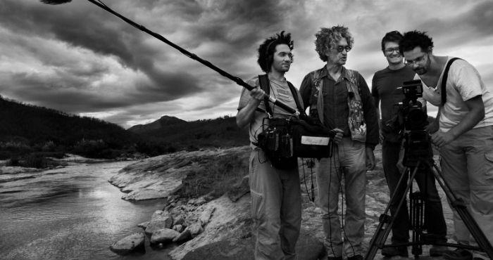 Filmando La sal de la tierra.  Foto: Fundación Wim Wenders / Facebook
