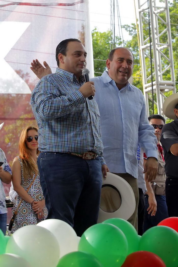 Los mandatarios Borge y Moreira. Foto: quintanaroo.gob