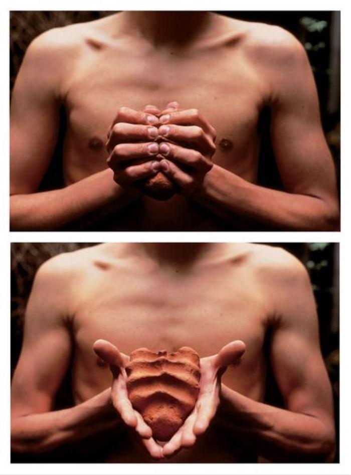 Mis manos son mi corazón, de 1991. Foto: Kurimanzutto.com