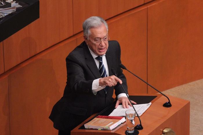 El Senador Manuel Barlett criticó ninguno de los candidatos llenaba los requisitos de honorabilidad para ocupar el cargo. Foto: Luis Barrón, SinEmbargo