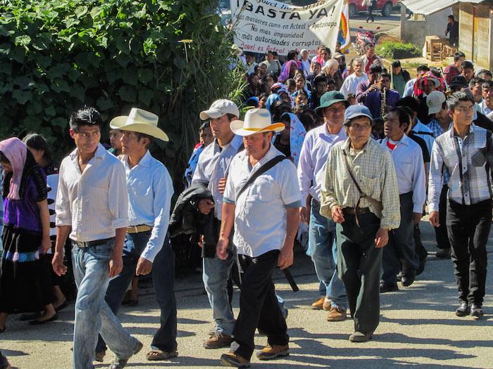 Habitantes de la comunidad de Acteal en Chenalo, Chiapas. conmemoraron cada año la masacre en ese poblado que costó la vida a 45 habitantes y manifiestan su desacuerdo por la liberación de los responsables, la cual fue ordenada por la Suprema Corte de Justicia de la Nación. Foto: Cuartoscuro/Archivo