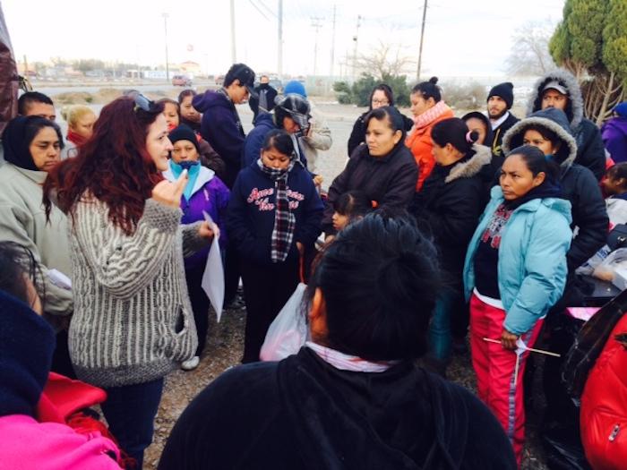Prieto Terrazas informó sobre la notificación la tarde de hoy a los trabajadores concentrados en el plantón que mantienen desde noviembre en el exterior de la planta -ubicada en el extremo suroriente de Ciudad Juárez. Foto: Sandra Rodríguez, SinEmbargo