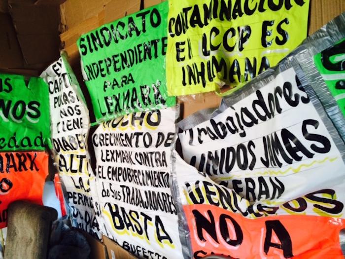La negativa se basó en que la legislación exige que los sindicatos estén formados por obreros en activo y que los solicitantes de Lexmark no cumplen debido a que fueron despedidos. Foto: Sandra Rodríguez, SinEmbargo