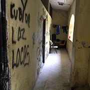 Pasillo del internado de Ayotzinapa