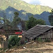 Casa en la Sierra de Guerrero, una de las regiones más pobres de México y la de mayor producción de goma de opio