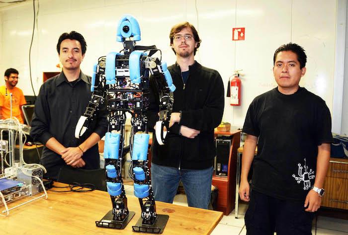 Robot futbolero. Foto: UNAM