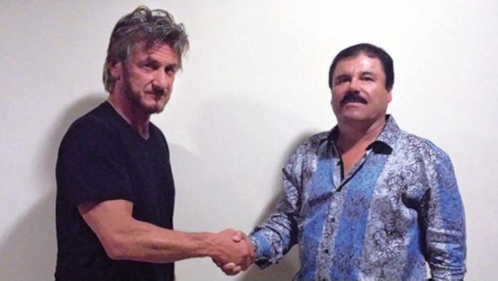 """El actor Sean Penn y """"El Chapo"""" Guzmán. Foto: Rolling Stone."""