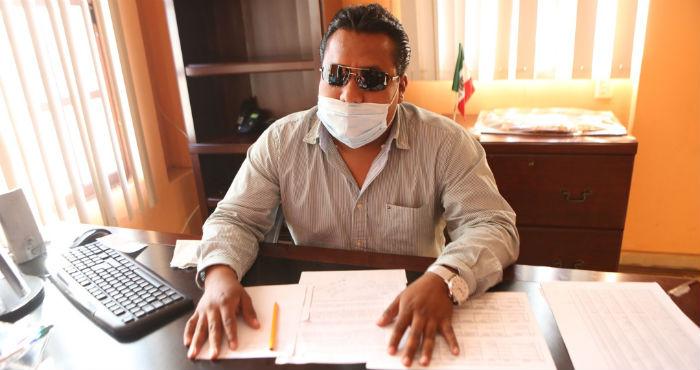 El Alcalde de Tlaquiltenango, Enrique Alonso Plascencia. Foto: Francisco Cañedo, SinEmbargo