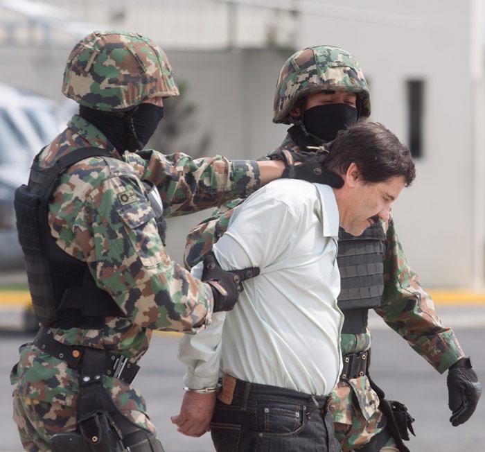 """""""El Chapo"""", en el primer arresto de este sexenio. Foto: Cuartoscuro"""