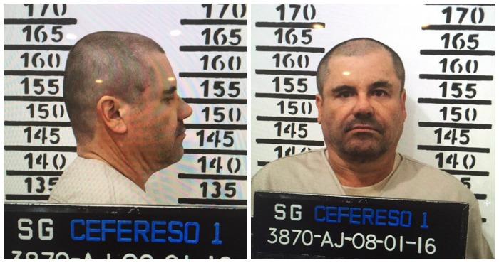 La ficha signalética de El Chapo. Fotos: Cuartoscuro.