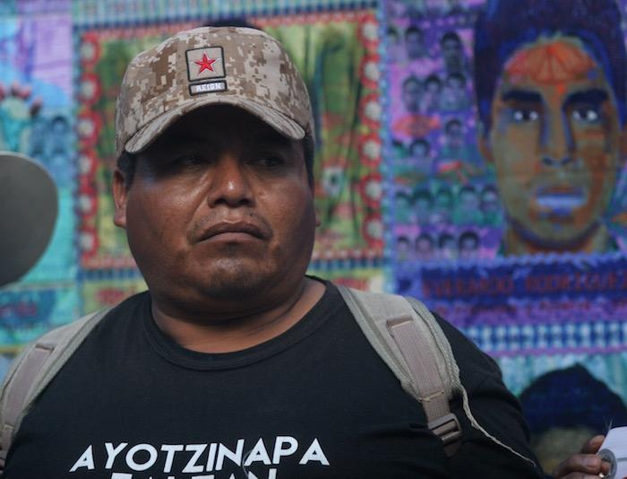 Luego de la reunión que sostuvieron este día con la Procuradora Arely Gómez, los padres de los 43 ofrecieron una conferencia de prensa. Foto: Velentina López, SinEmbargo