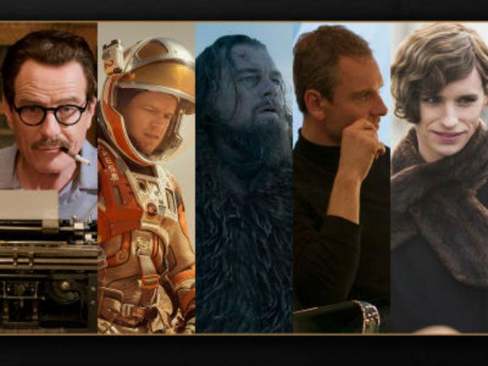 Candidatos al Oscar como mejor actor. Foto: Oscar.com