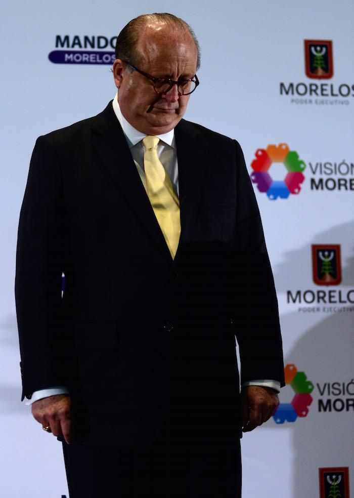El rector de la UAEM, Jesús Alejandro Vera Jiménez, recordó que en 2012 Graco Ramírez prometió someterse a consulta popular cada dos años. Foto: Cuartoscuro