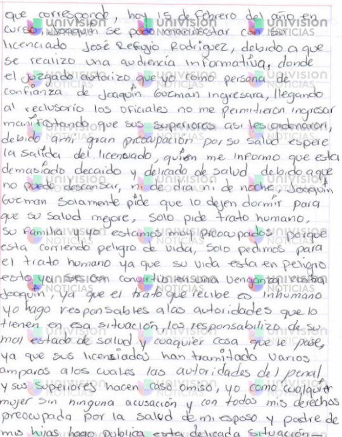 Emma Coronel Esposa De Quot El Chapo Quot Denuncia En Carta A
