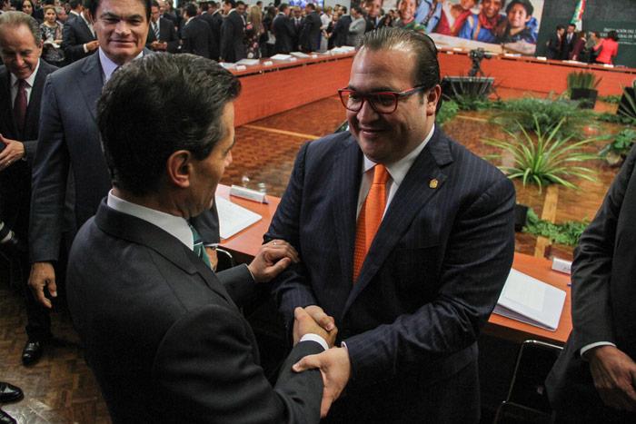 Javier Duarte y Enrique Peña Nieto. Foto: Cuartoscuro