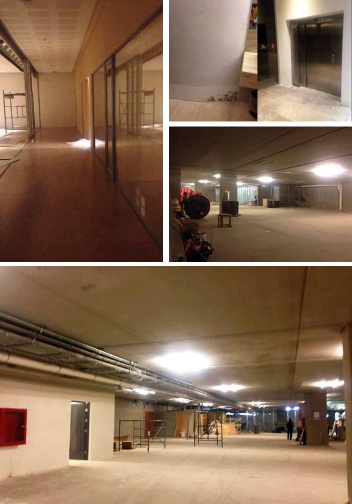 El auditorio, el taller de restauración, el salón de conferencias, dos patios, los elevadores del estacionamiento y los baños de la planta baja se encuentran cerrados al público pues aún no están terminados. Foto: Periódico Central.