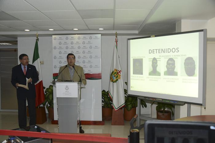 Los detenidos por el asesinato de Goyo Jiménez. Foto: Cuartoscuro.