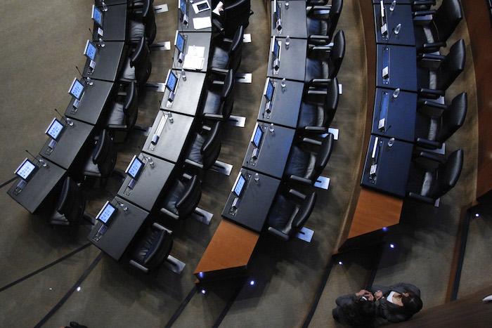 Curules de Senadores vacíos en diciembre pasado. Foto: Cuartoscuro