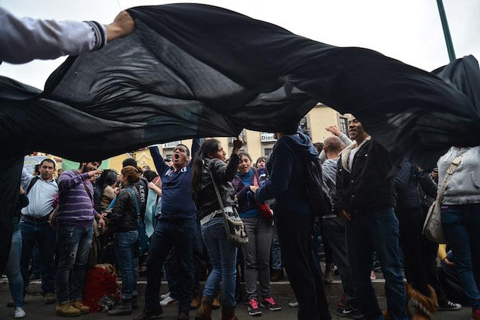 Estudiantes de la UV diferentes facultades tomaron las calles este día. Foto: Cuartoscuro
