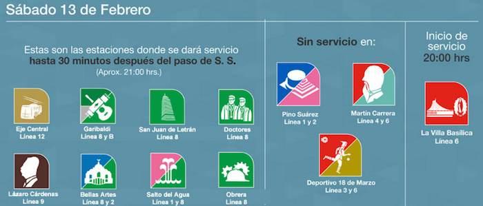 Estas Son Las Estaciones Del Metro Metrobus Y Vialidades Que