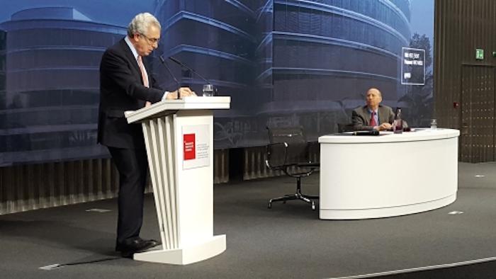 El ex Presidente Ernesto Zedillo durante una conferencia dictada en el Graduate Institute de Ginebra. Foto: Graduate Institute.