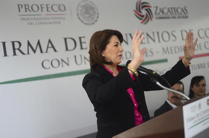 La ex titular de la Profeco Lorena Martínez, se declaró candidata del PRI a la gubernatura de Aguascalientes.
