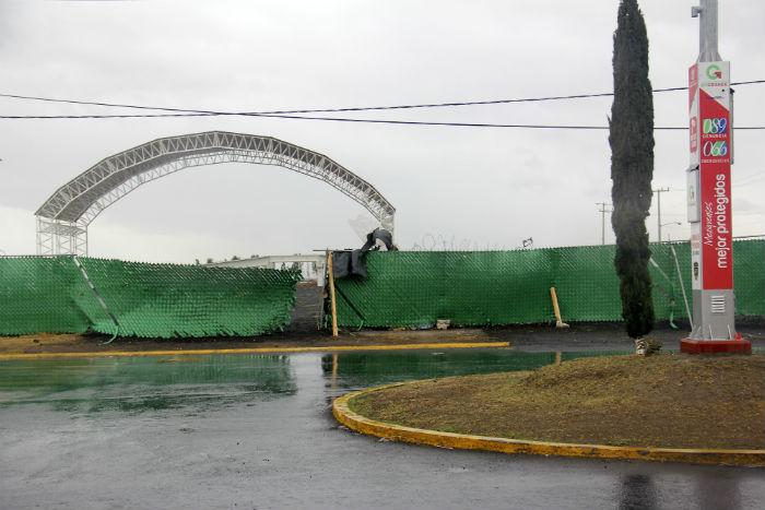 Así luce actualmente El Caracol, lugar donde se realizó la misa del 14 de febrero. Foto: Luis Barrón, SinEmbargo