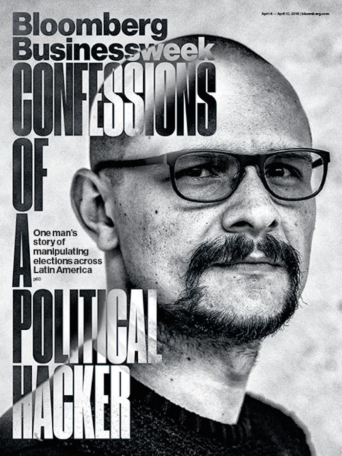 Andrés Sepúlveda en la portada de Bloomberg Businessweek.