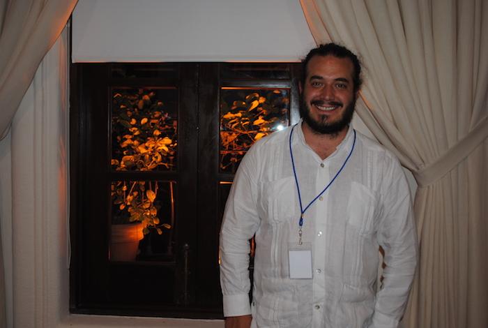 El investigador Francisco Cravioto durante su participación en el Foro de Aguas llevado a cabo del 16 al 18 de marzo en Mazatlán. Foto: Juan García, SinEmbargo