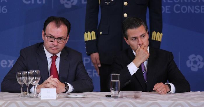 El Secretario de Hacienda y el Presidente. Foto: Cuartoscuro.