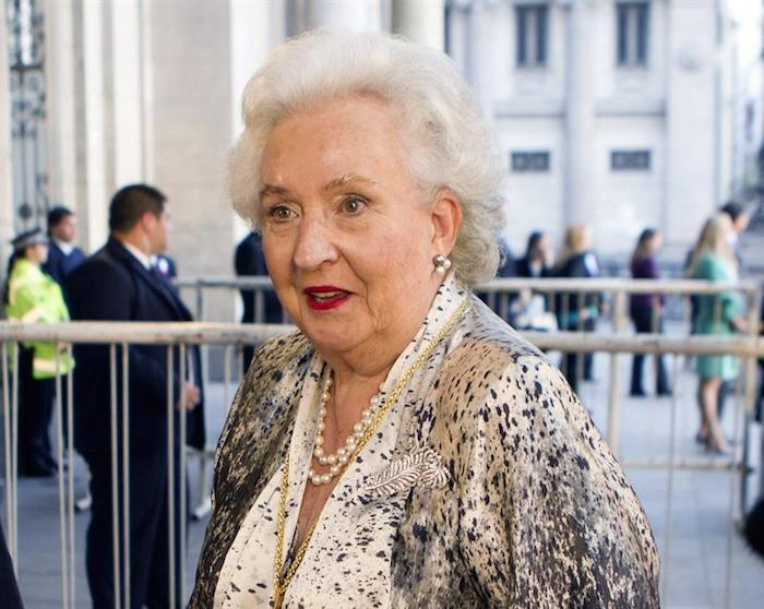 Infanta Pilar de Borbón, hermana del rey Juan Carlos. Foto: Efe
