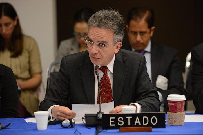 El Subsecretario de Asuntos Multilaterales y Derechos Humanos de México, Miguel Ruiz Cabañas. Foto: CIDH