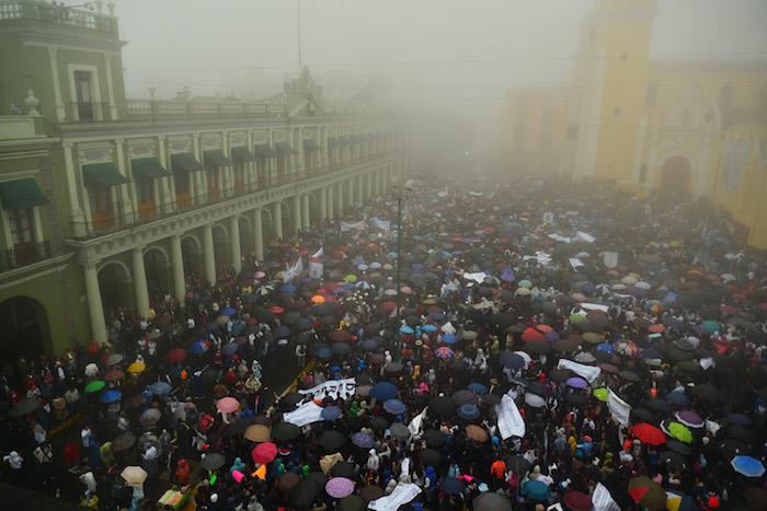 La protesta del pasado 10 de marzo. Foto: Cuartoscuro.