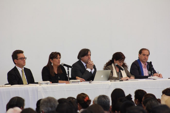 El Giei en la Presentación de Informe final do. Foto: Luis Barrón, sinembargo.