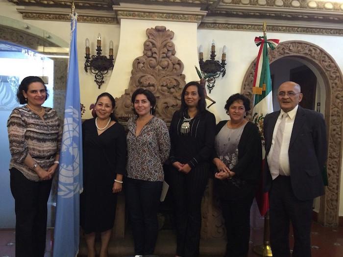 Miembros de la Junta de Gobierno de la UV se presentaron en las oficinas del Representante Adjunto en México de la Oficina del Alto Comisionado de las Naciones Unidas para los Derechos Humanos. Foto: UV.