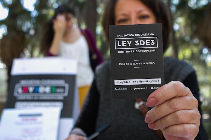 La iniciativa ciudadana Ley 3de3 busca que se auna obligación de los funcionarios públicos presentar las declaraciones patrimonial, de intereses y fiscal para todo de forma periódica y pública. Foto: Cuartoscuro