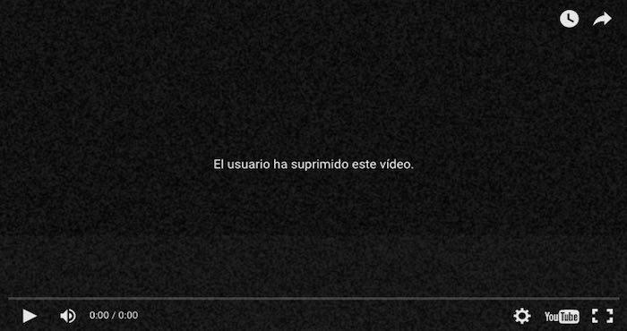 El mensaje que aparece al intentar reproducir el link con el que fue compartido el video. Foto: especial.