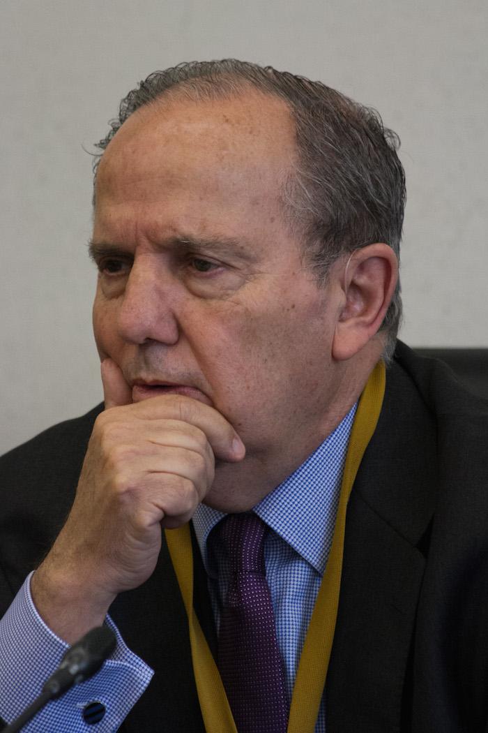Juan Méndez, relator contra la tortura de la Organización de la Naciones Unidas (ONU), hoy en el Senado de la República. Foto: Cuartoscuro