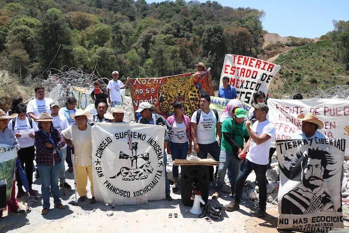 Aceptan negociar otomíes afectados por la autopista Toluca-Naucalpan