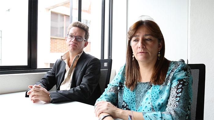Alejandro Valencia y Ángela Buitrago. Foto: Francisco Cañedo, SinEmbargo