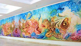 El mural en la Casa de la Cultura. Foto: Especial