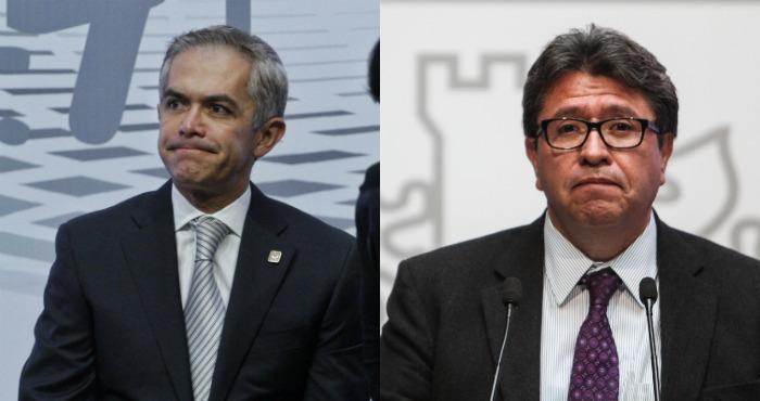 El Jefe de Gobierno, Miguel Ángel Mancera, y Ricardo Monreal, Jefe delegacional de la Cuauhtémoc. Foto: Cuartoscuro.