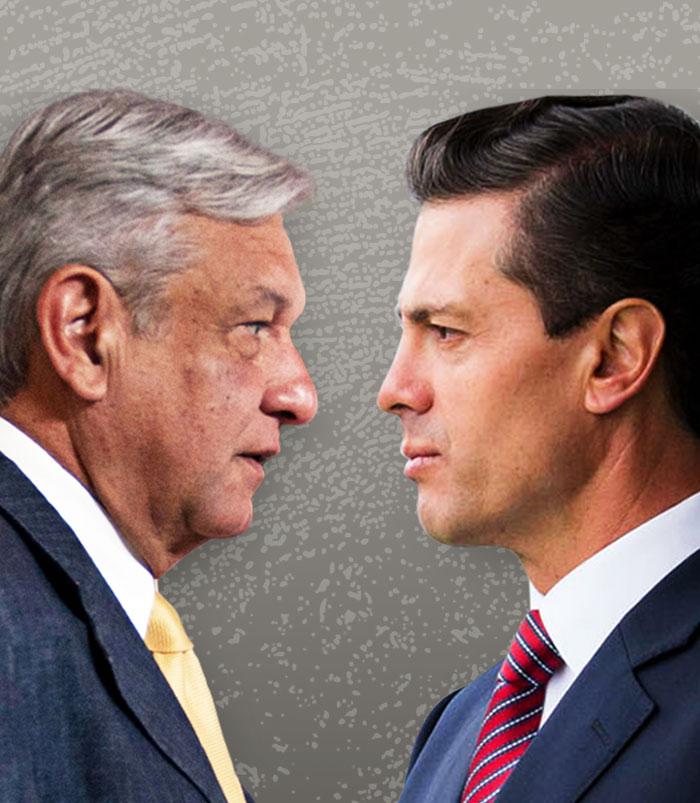 AMLO vs. Peña. Fotos: Cuartoscuro. Diseño: Omar Vargas