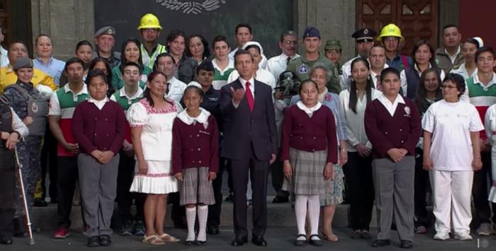 Este spot, realizado para el Tercer Informe de Gobierno, tuvo un costo de 6 millones de pesos. Foto: Captura de Pantalla