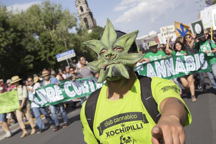 Marcha en favor de la legalización de la mariguana. Foto: Cuartoscuro