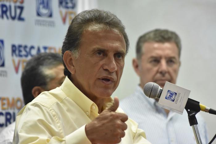 Miguel Ángel Yunes, candidato de la alianza PAN-PRD para la gubernatura de Veracruz. Foto: Cuartoscuro.