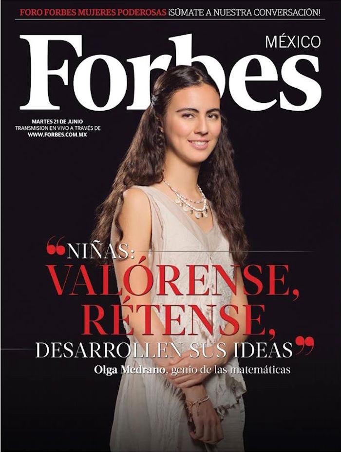 #LadyMatemáticas aparece en portada de Forbes, señala la importancia de que haya más participación de mujeres. Foto: Facebook vía Forbes