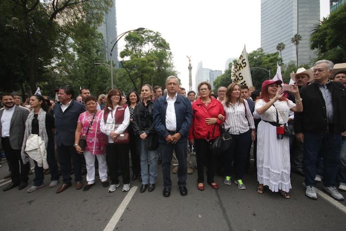 Andrés Manuel López Obrador, líder de Morena, fue quien convocó a la marcha. Foto: Francisco Cañedo, SinEmbargo.