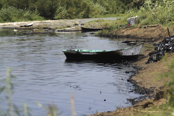 En Cadereyta un derrame en el río San Juan ocurrió en el 2015. Foto: Cuartoscuro