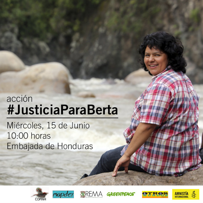 a hondureña Berta Cáceres, líder indígena lenca, que el pasado 3 de marzo fue asesinada por un grupo de desconocidos que entraron en su casa y le dispararon. Foto: Especial